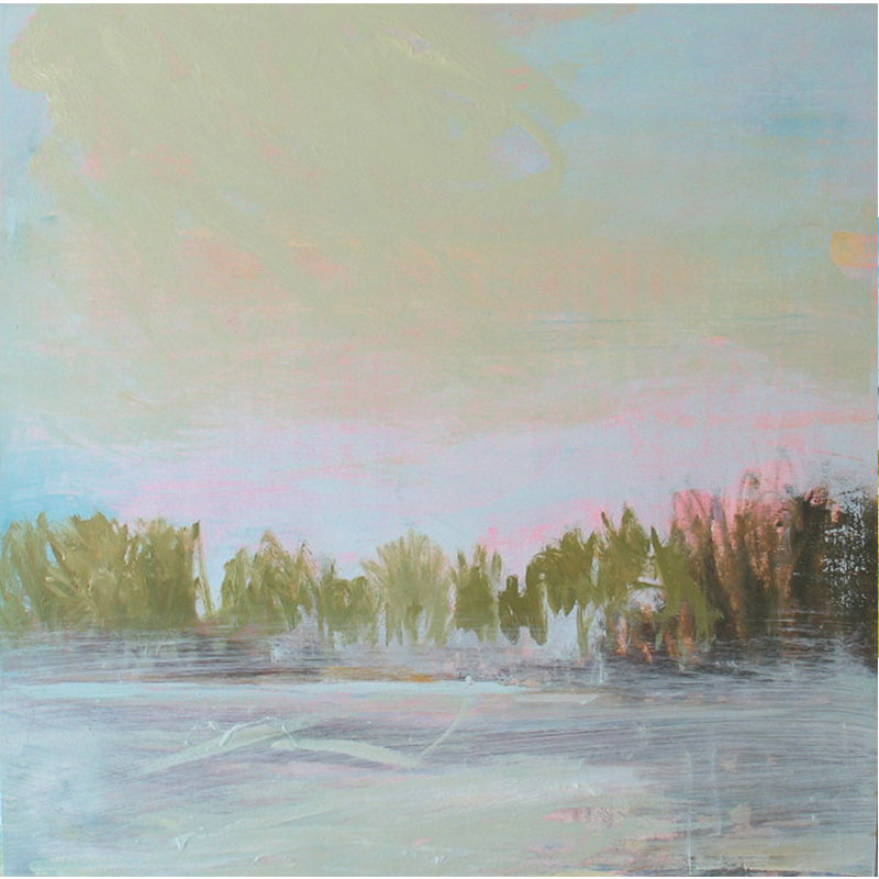 """The Joyous Lake , 2007 oil on panel 30 x 30"""" unframed 40 x 40"""" framed  Inquire > SOLD"""