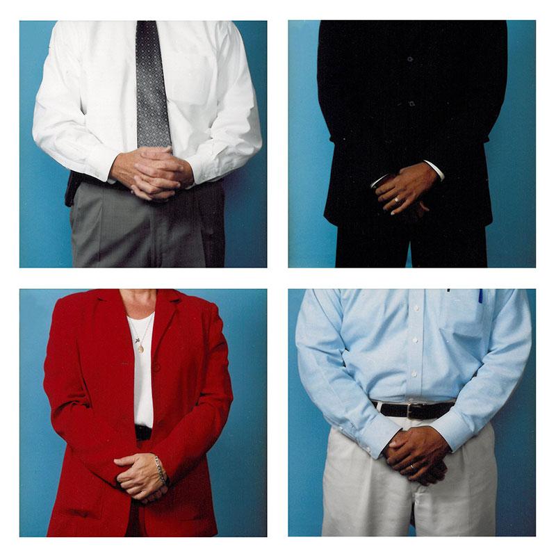 Secret Handshake , 2006 c-print on plexiglass 19.75 x 19.75 inches each panel Edition of 3  Inquire >