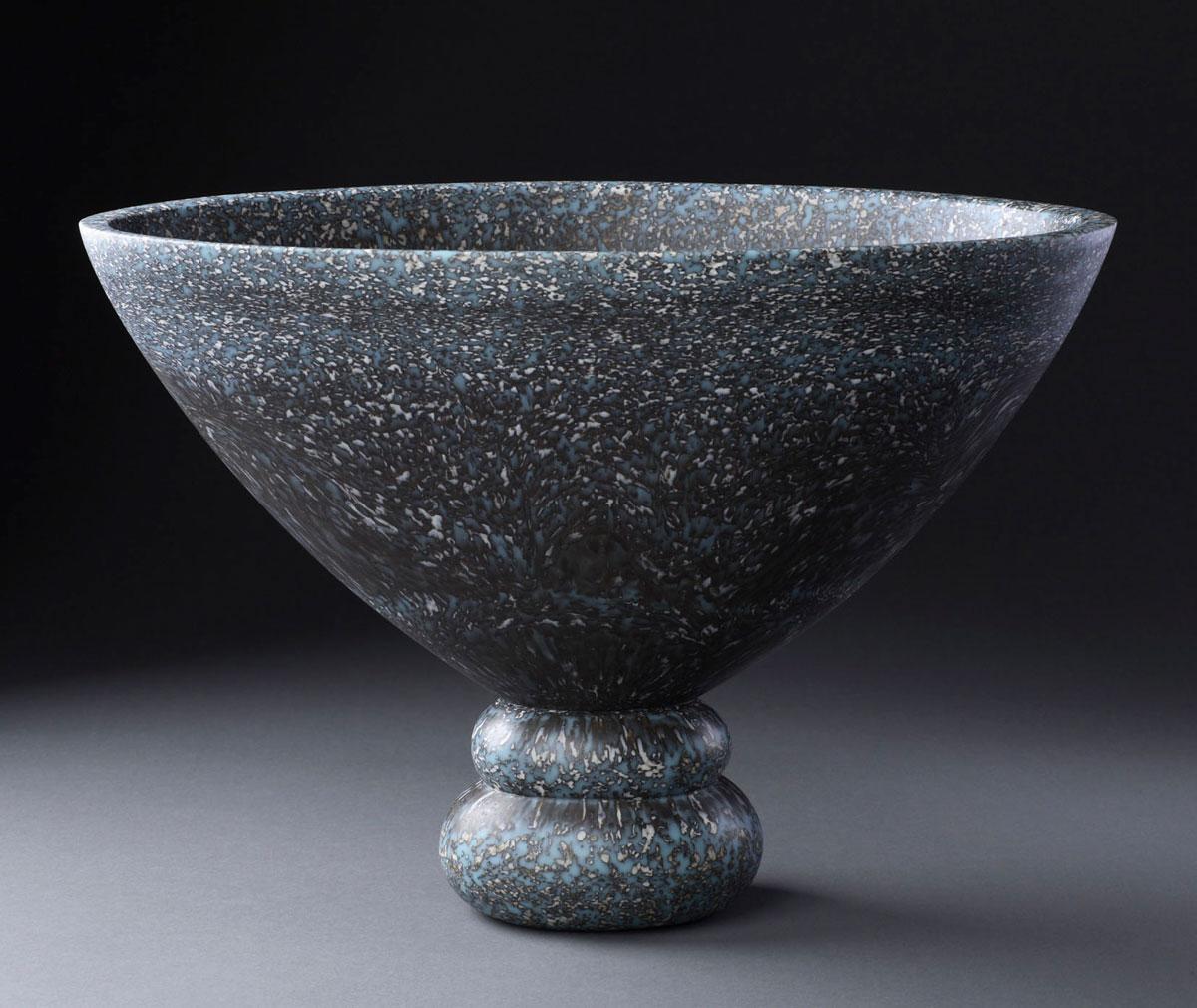 "Infolding V , 2008 glass 11.25 x 16 x 10"""