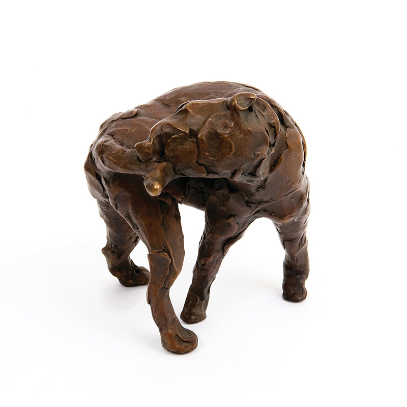 "Dog Loop , 2008 bronze 5.75 x 5.5 x 6"" Edition of 6  Inquire >"