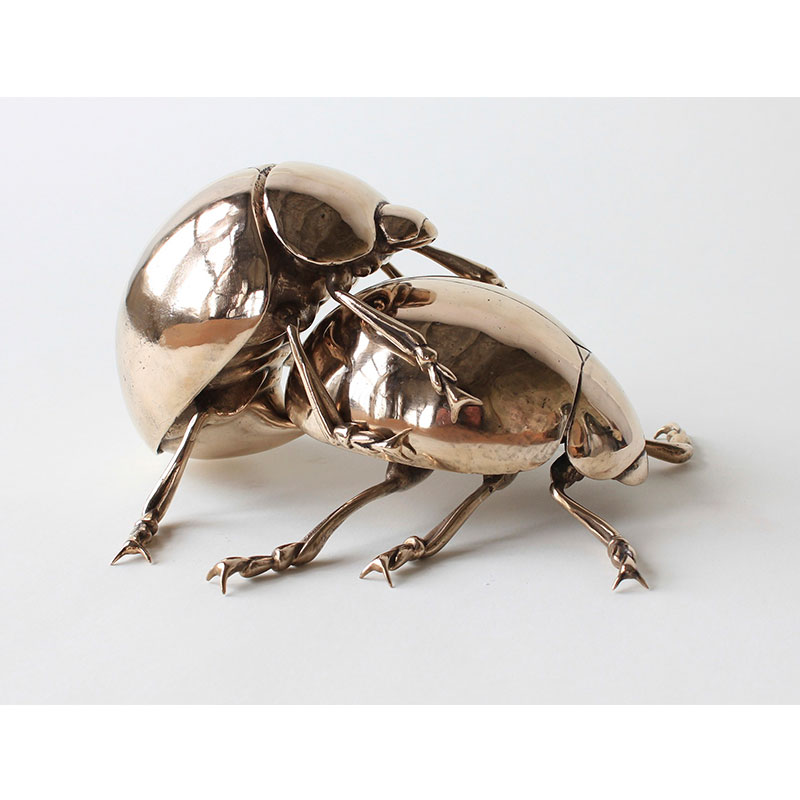 "Lady Bugs  , 2011 bronze 5 x 8 x 9.5"" Edition of 3, 1AP  Inquire >"