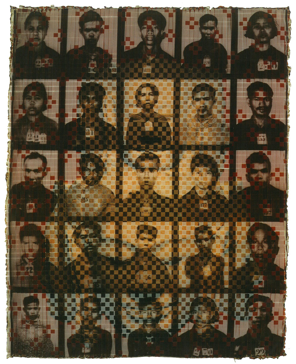 """Cambodia , 1995 c-prints and tape 47.5 x 39"""" framed"""