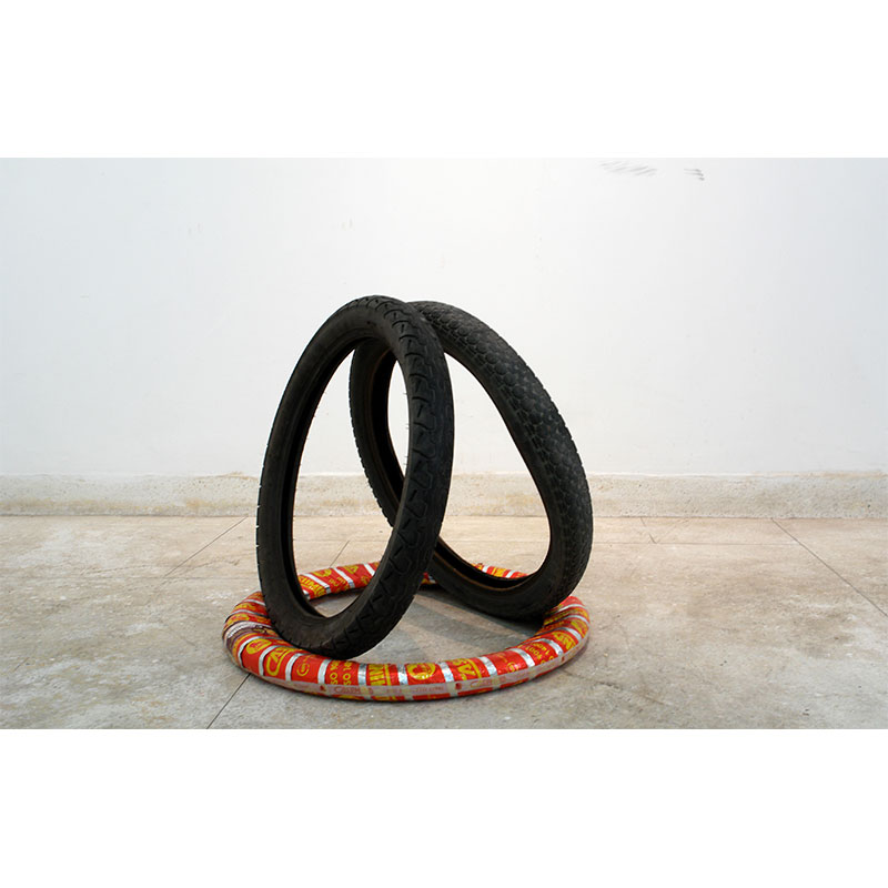 Beyond Signs and Signals , 2009 tires dimensions variable Edition of 3  Inquire >