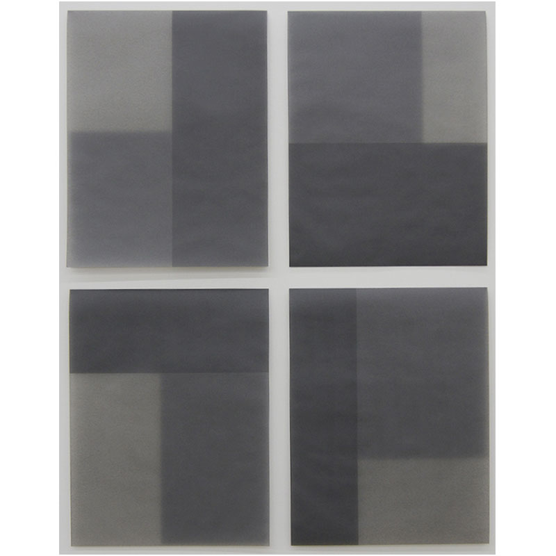 """Untitled, 2010-0527 1-4 , 2010 graphite in wax on paper 29 x 23.75"""" framed  Inquire >"""
