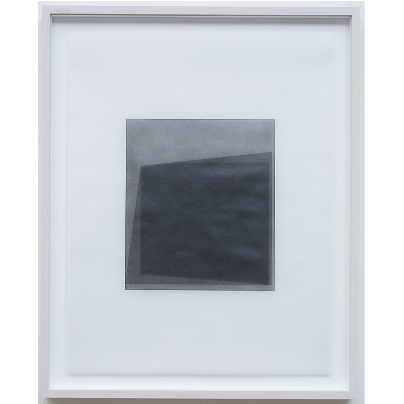 """Untitled, 2016-0510 , 2016 graphite pigment in wax on paper 26.5 x 21.5"""" framed  Inquire >"""