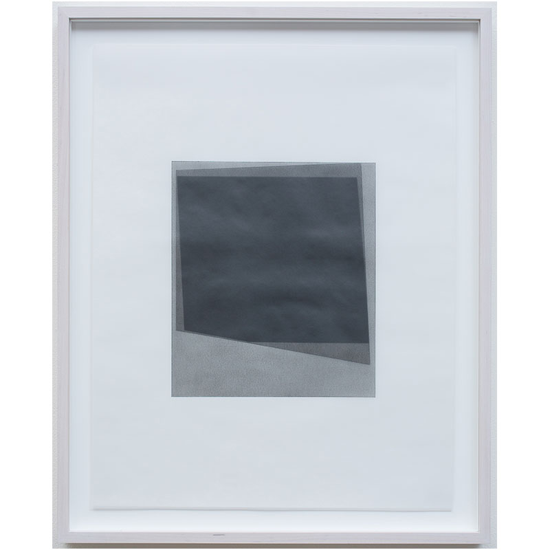 """Untitled, 2016-0511 , 2016 graphite pigment in wax on paper 26.5 x 21.5"""" framed  Inquire >"""