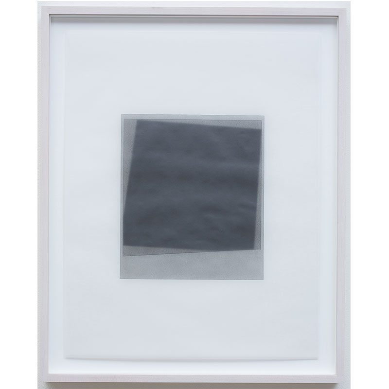 """Untitled, 2016-0514 , 2016 graphite pigment in wax on paper 26.5 x 21.5"""" framed  Inquire >"""