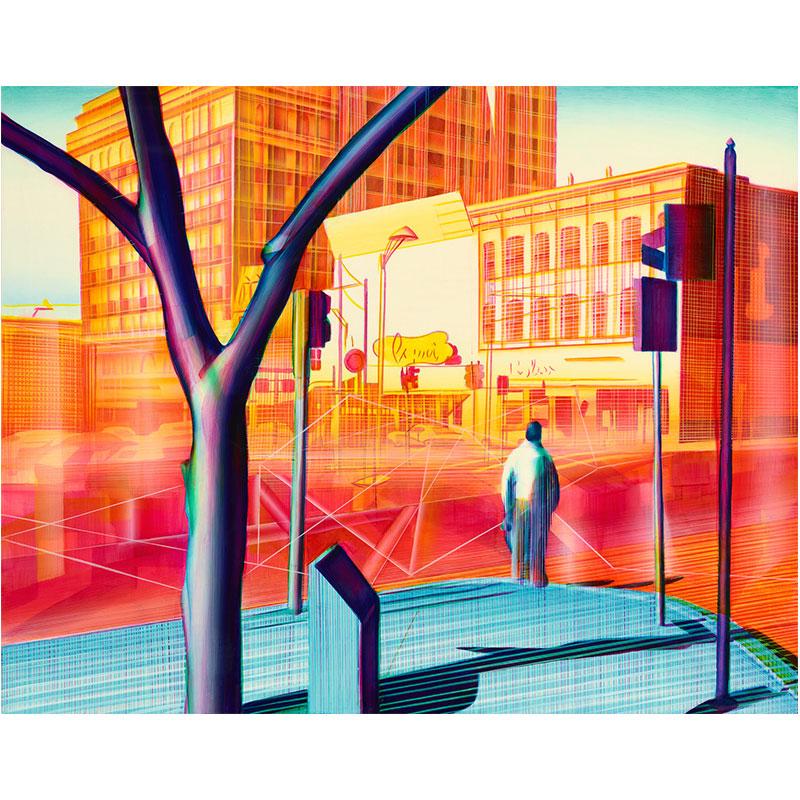 "The Precipice  , 2013 oil on panel 11 x 14"" panel 14.75 x 17.75"" framed  Inquire >"