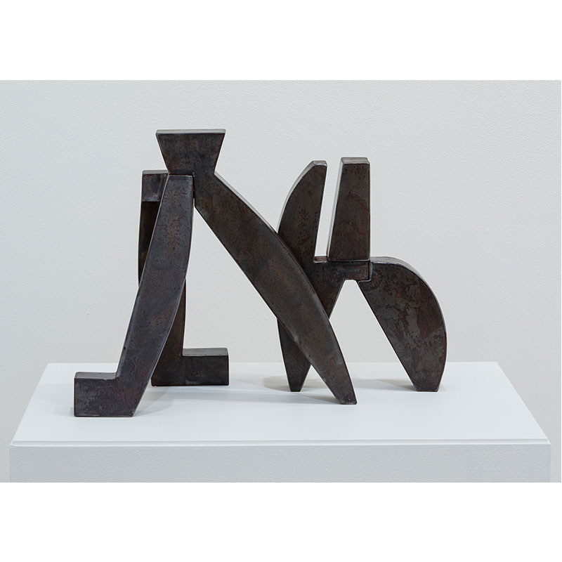 """Pericles Study , 2015 welded steel 14 x 20 x 10""""  Inquire >"""