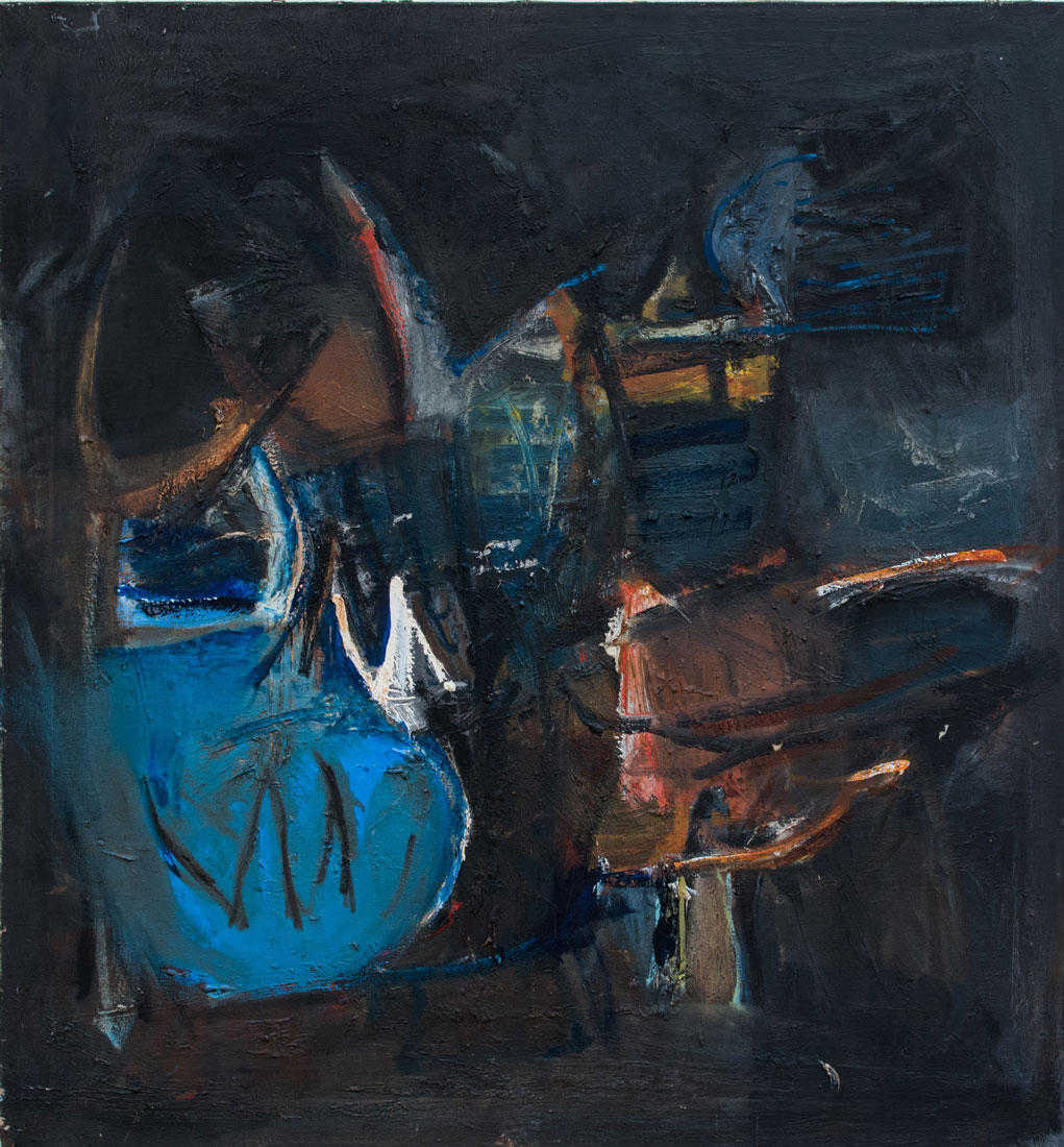 """Untitled - LK 1087 , 1960 oil on canvas 36 x 33.5"""""""