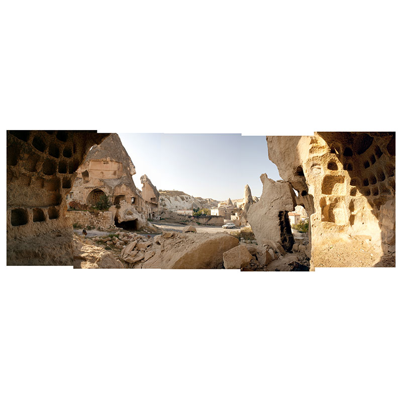 "Cappadocia V , 2009 digital c-prints 19 x 52"" image 27 x 60"" framed  Inquire >"