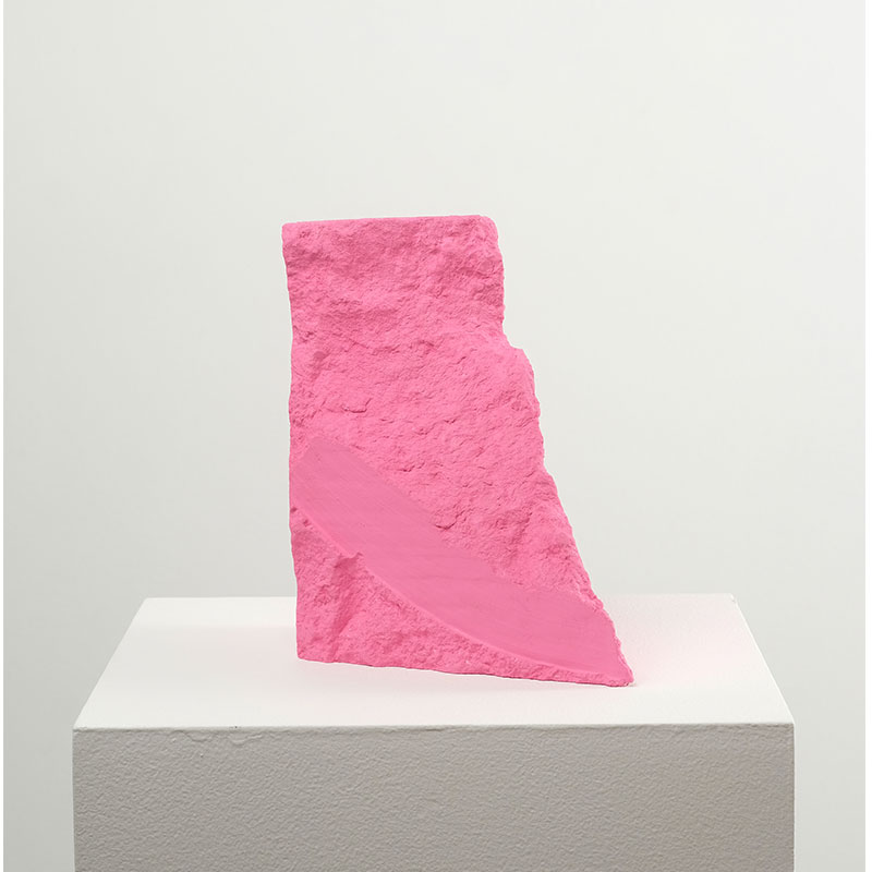 "Jeremy Hof   Pink #2 , 2016 acrylic paint 7 x 4.5 x 6""  Inquire >"