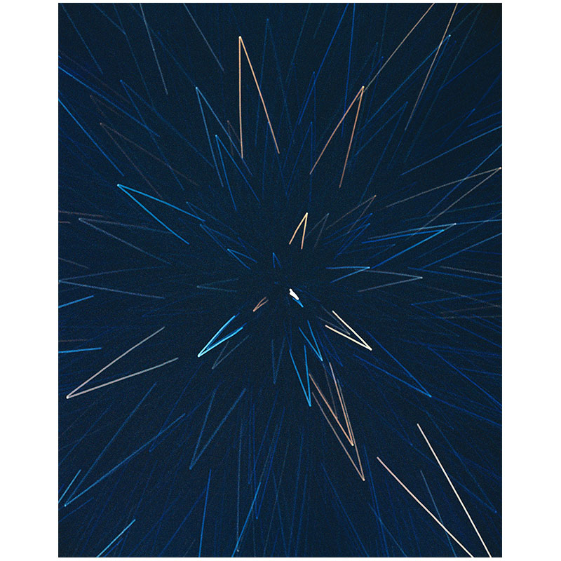 "James Nizam   Burst (Starlight drawing) , 2017 lightjet print 40 x 32"" Edition of 5  Inquire >"