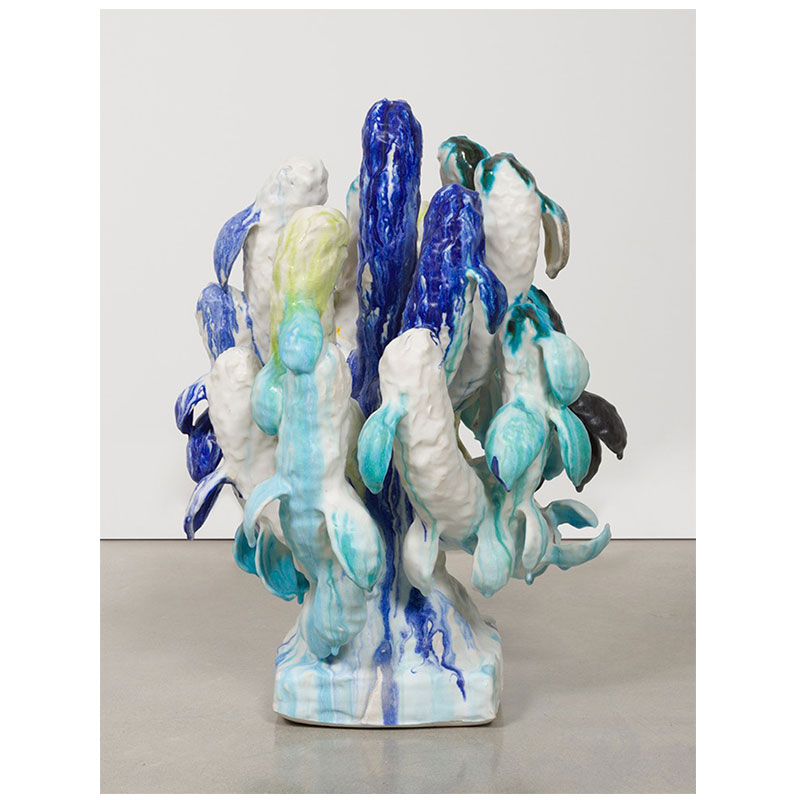Matt Wedel   Flower tree , 2014 porcelain 27.5 x 19 x 20.5""