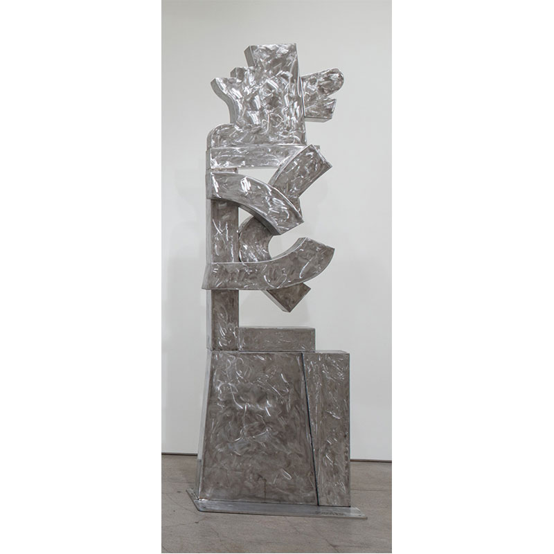 """Antigua II , 2018 stainless steel 9' 8"""" x 34"""" x 14"""" (base: 20 x 36"""")  Inquire >"""