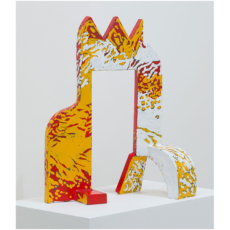 """Red Gate , 1989 steel with paint 15.5 x 11 x 8""""  Inquire >"""