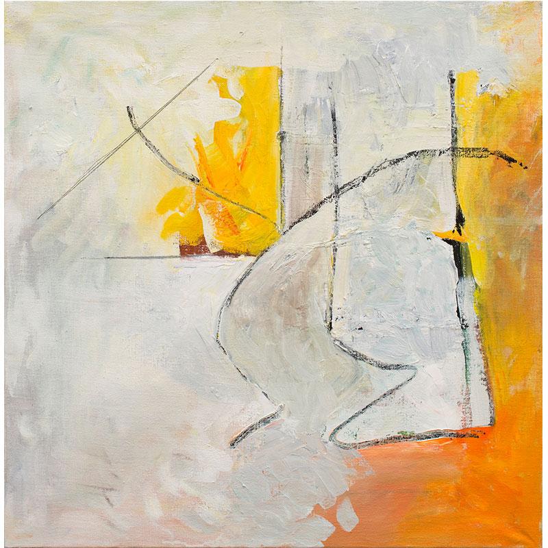 "Nine , 2014 oil on canvas 24 x 24""  Inquire >"