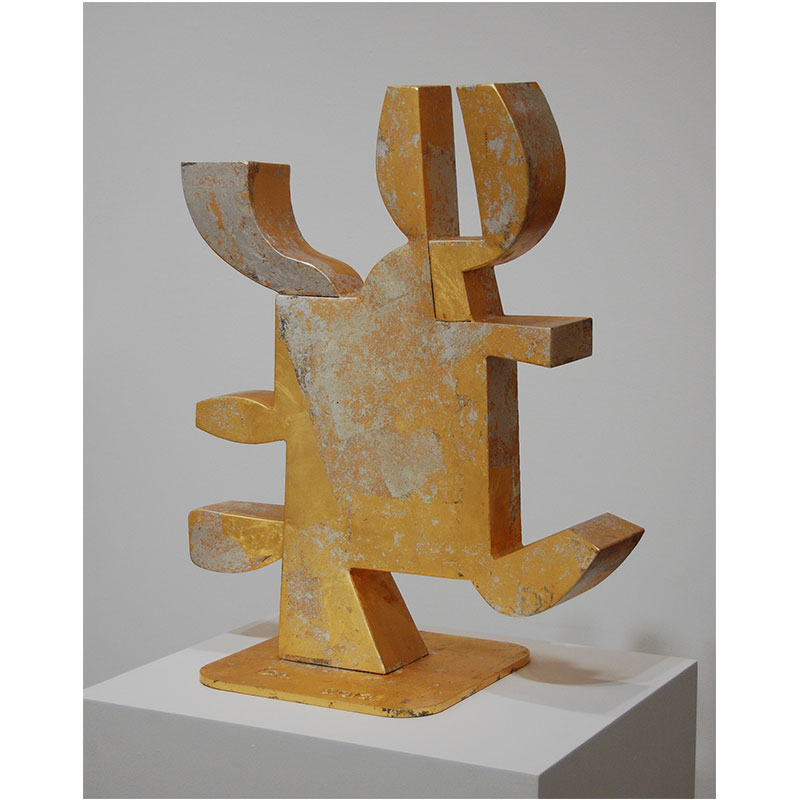"""Pumalin , 2012 gold leaf over welded steel 26 x 21 x 12""""  Inquire >"""