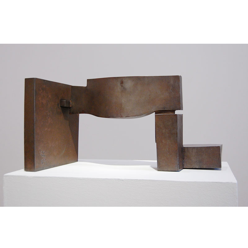 """Study for a Large Sculpture #5 , 1969 mild steel 14 x 26 x 12""""  Inquire >"""