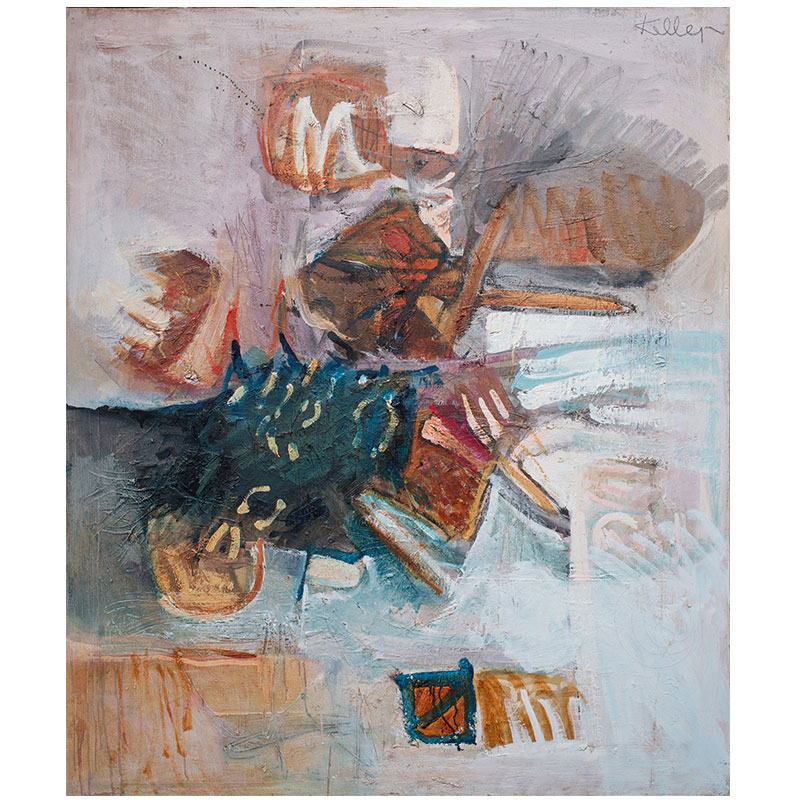 """Summer + Fall , 1961 oil on canvas 39.75 x 33.5""""  Inquire >"""