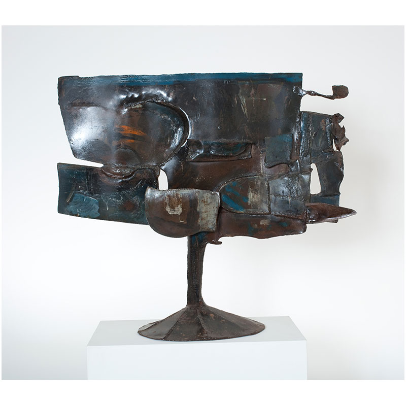 """Untitled - LK 797 , 1961 painted steel 32.5 x 37.5 x 13""""  Inquire >"""
