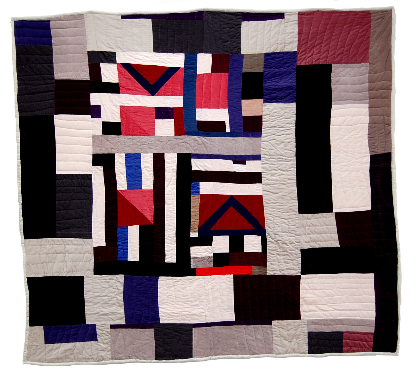 """Mary Lee Bendolph   Untitled , 2006 quilted fabric 82 x 76"""""""