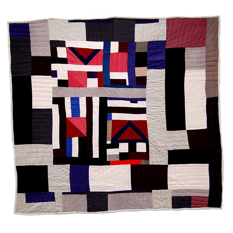 """Mary Lee Bendolph   Untitled - MB 27 , 2006 quilted fabric 82 x 76""""  Inquire >"""