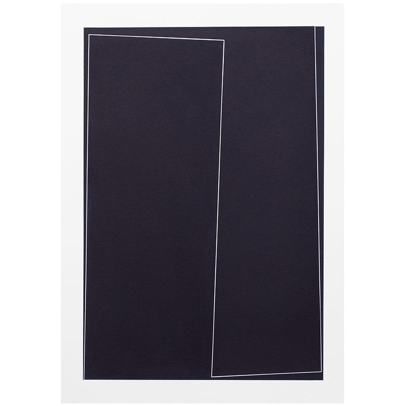 "Untitled, 2018-1017 , 2018 indigo pigment in wax on paper 41.5 x 29.5"" paper  Inquire >"