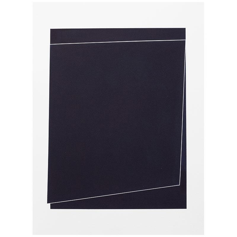 "Untitled, 2018-0902 , 2018 indigo pigment in wax on paper 30 x 22"" paper  Inquire >"