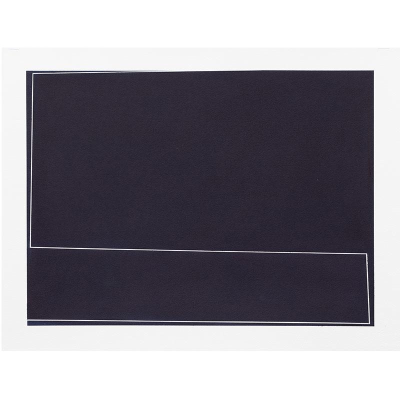"Untitled, 2018-0912 , 2018 indigo pigment in wax on paper 22 x 30"" paper  Inquire >"