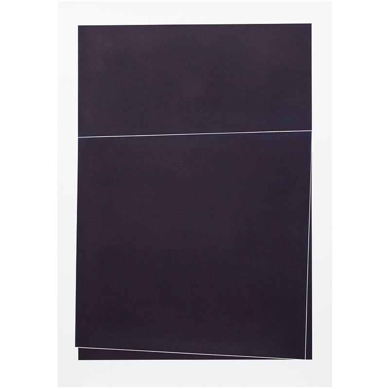 "Untitled, 2018-1009 , 2018 indigo pigment in wax on paper 41.5 x 29.5"" paper  Inquire >"