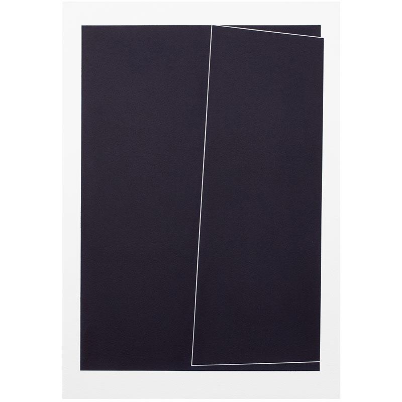 "Untitled, 2018-1012 , 2018 indigo pigment in wax on paper 41.5 x 29.5"" paper  Inquire >"