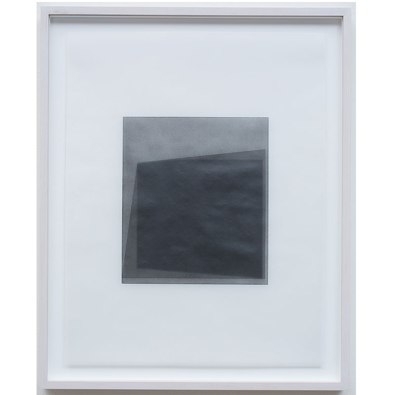 "Untitled, 2016-0510 , 2016 graphite pigment in wax on paper 23 x 18"" paper 26.5 x 21.5"" framed"