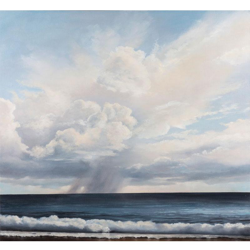 "Towards the Blue , 2016 oil on linen 36 x 36"""