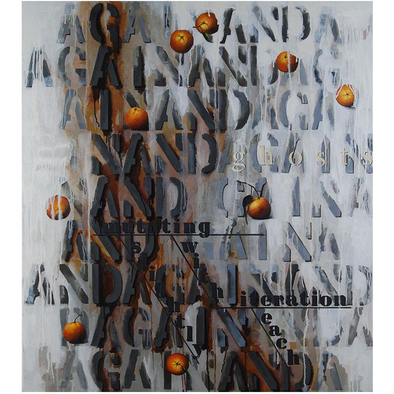 """again and again , 2016 oil on canvas 40 x 36"""""""