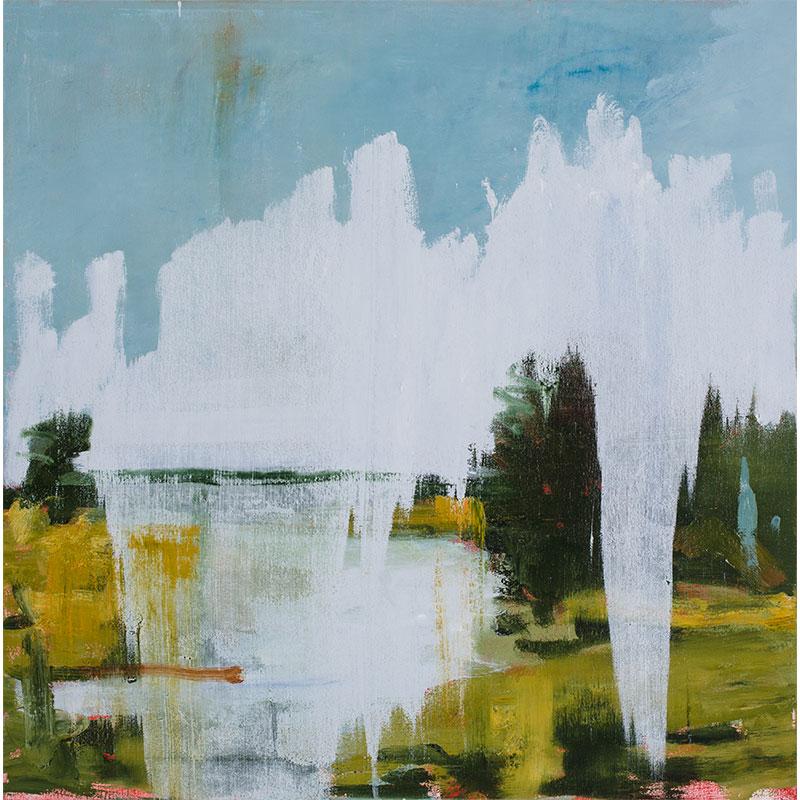 """Luna , 2015 oil on canvas over panel 30 x 30""""  Inquire >"""
