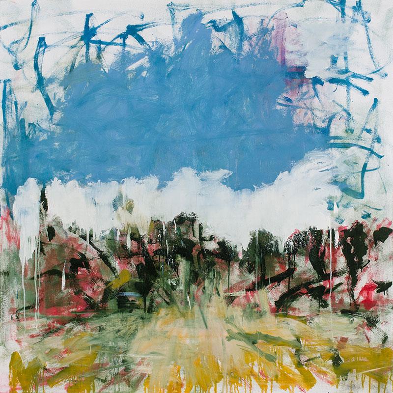 """Sonata , 2015 oil on canvas over panel 60 x 60""""  Inquire >"""