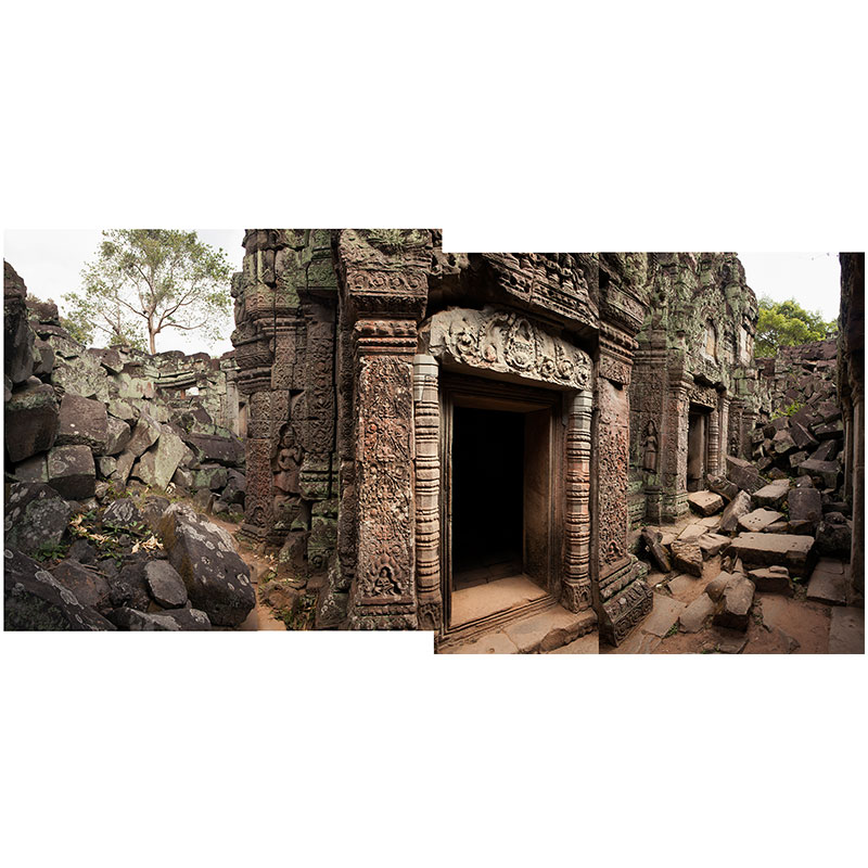 """Angkor lV , 2018 assembled archival inkjet print 19 x 39"""" image  Inquire >"""