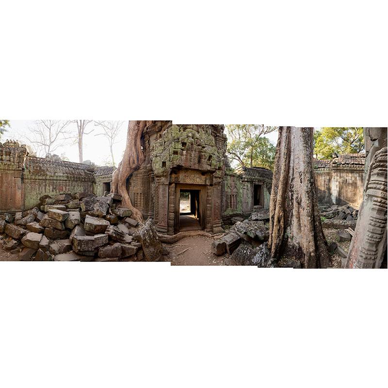 "Angkor V , 2018 assembled archival inkjet print 19 x 49"" image  Inquire >"