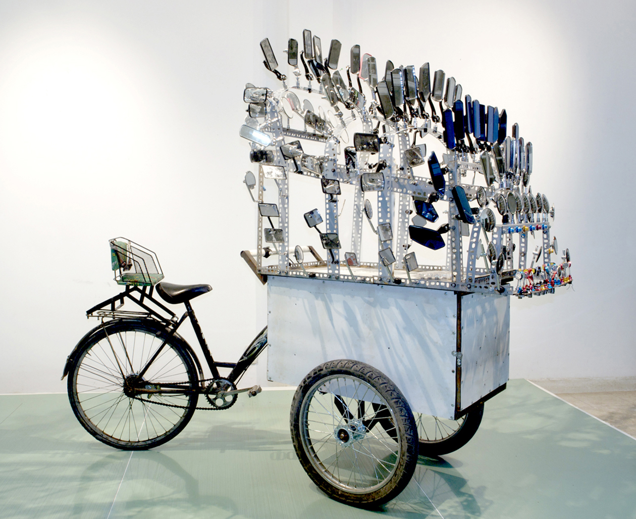 I am Large. I Contain Multitudes , 2009 bicycle, steel, mirrors dimensions variable Edition of 3 unique multiples