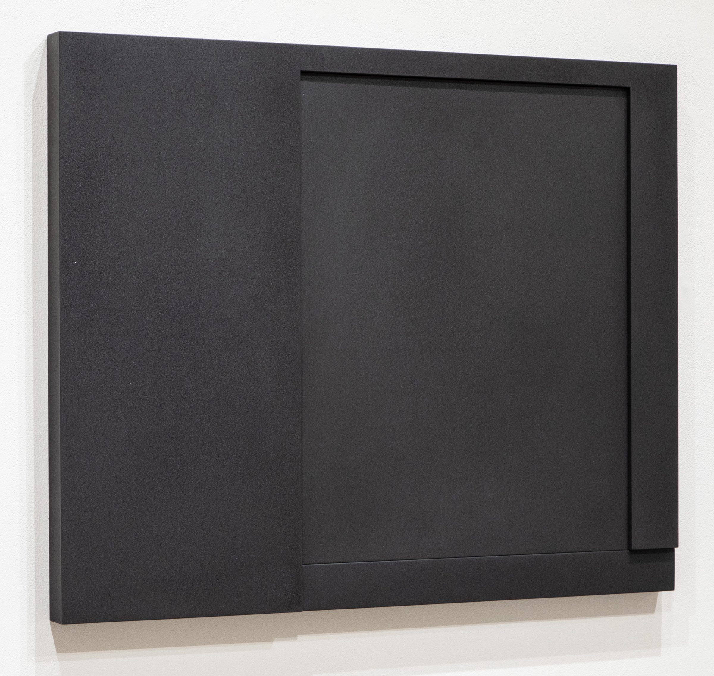 Untitled, 2015-005 , 2015 pigment in lacquer on wood 33.5 x 41.25 x 2.25""