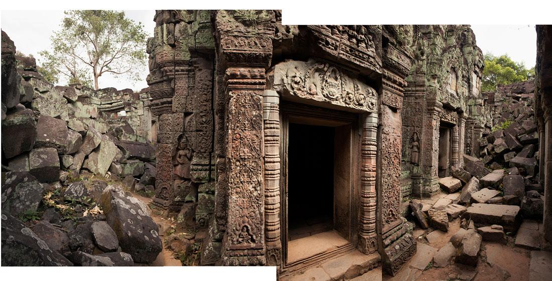 "Angkor lV , 2018 assembled archival inkjet print 19 x 39"" image"