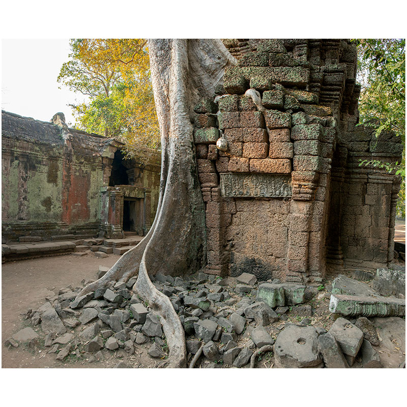 """Angkor VII , 2018 assembled archival inkjet print 18 x 22"""" image  Inquire >"""
