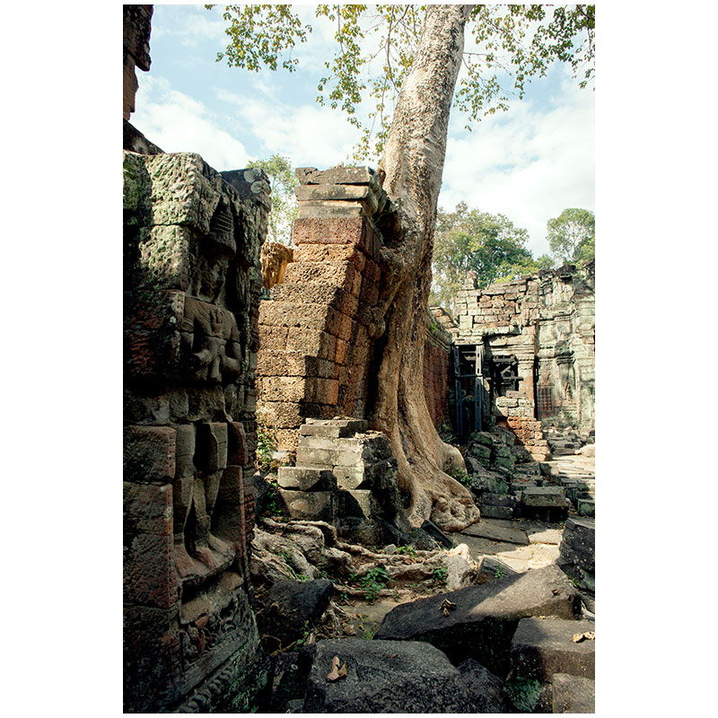 """Angkor XII , 2018 assembled archival inkjet print 18 x 27"""" image  Inquire >"""