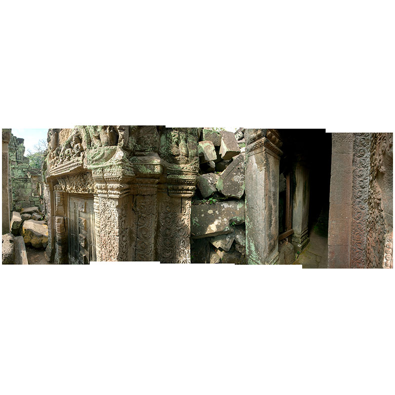 """Angkor XIII , 2018 assembled archival inkjet print 19 x 52"""" image  Inquire >"""