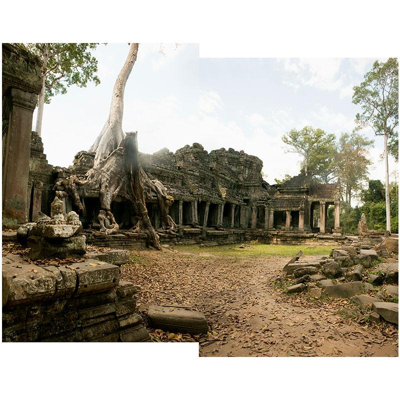 "Angkor X , 2018 assembled archival inkjet print 19 x 24"" image"