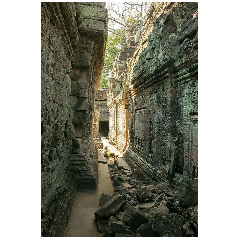 "Angkor XV , 2018 assembled archival inkjet print 18 x 27"" image"