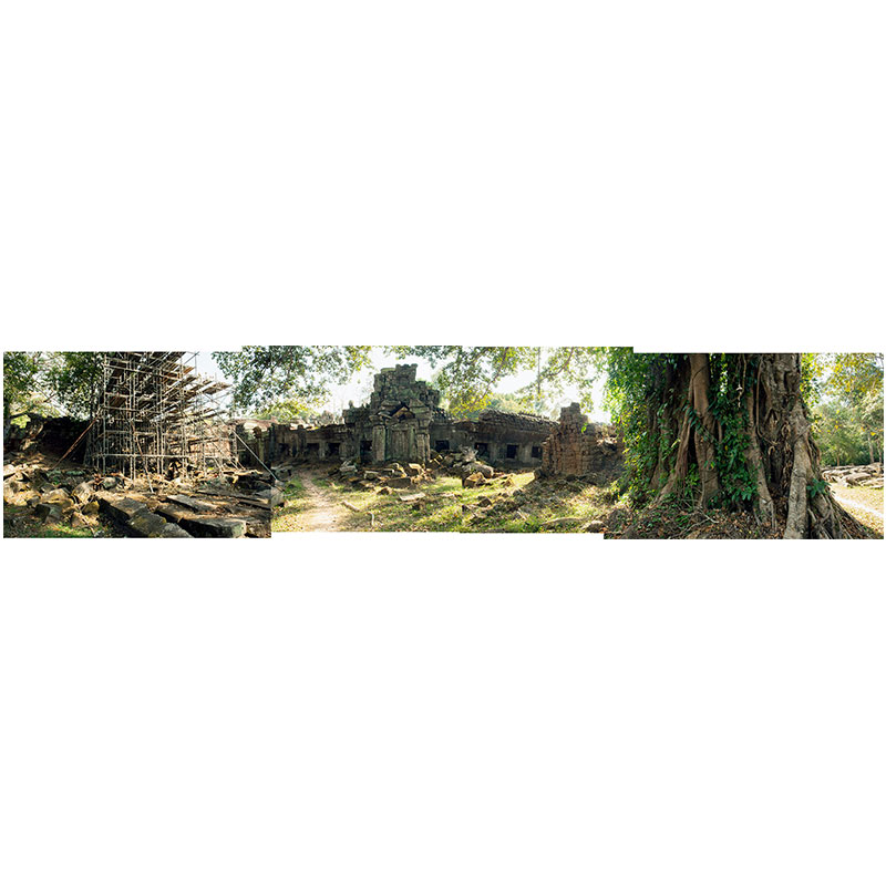"Angkor XVI , 2018 assembled archival inkjet print 12.5 x 56.5"" image"