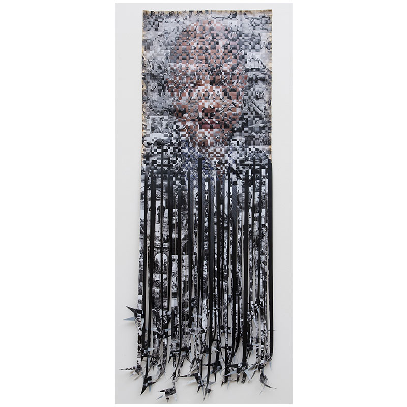"Self-Portrait, 2016 c-prints and linen tape 73 x 23.75""  Inquire > SOLD"