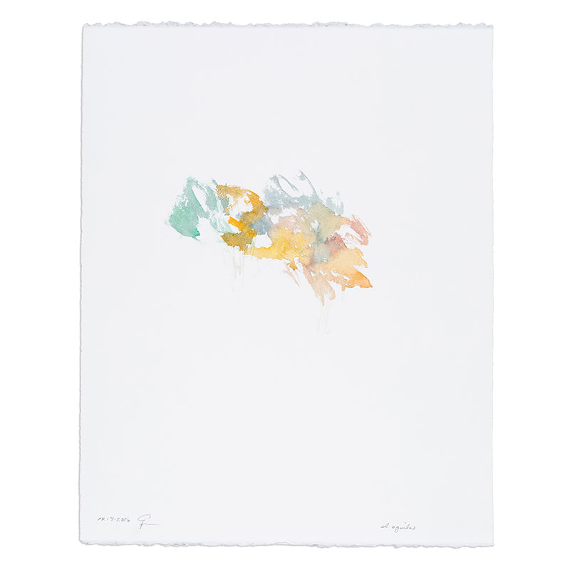 "El Aguila , 2016 watercolor on paper 20.5 x 16.25"" paper  Inquire >"